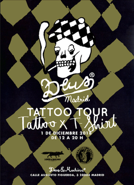 Poster Tattoo Tour - Deus Madrid